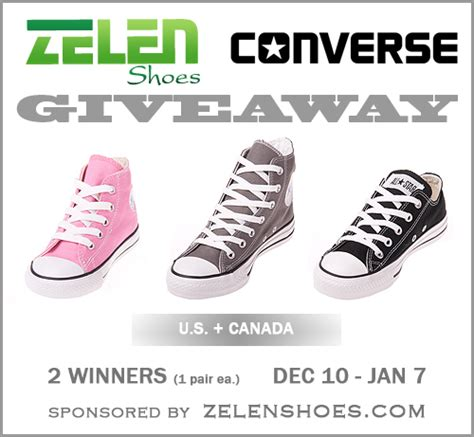 Shoe Sweepstakes - converse shoes giveaway zelenshoes com by sarah halstead