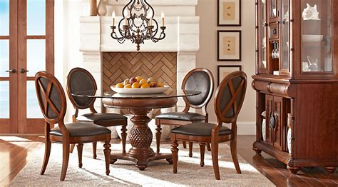 cindy crawford dining room furniture cindy crawford home key west tobacco 5 pc round dining