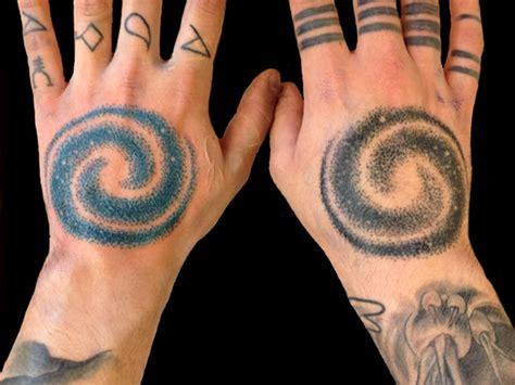 universe tattoo hand 15 most impressive space universe spiral galaxy tattoos