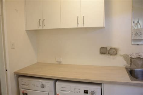 Timber Kitchen Designs Nearly Done Our Bathroom And Laundry Renovations House Nerd