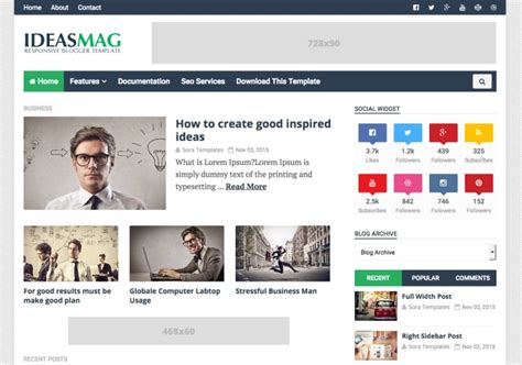 blogs templates ideas mag template templates 2018