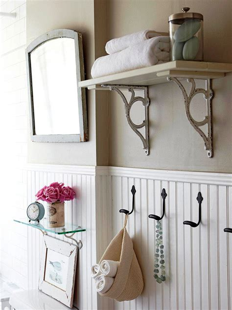 bathroom wall shelves ideas bathroom beadboard cottage bathroom bhg