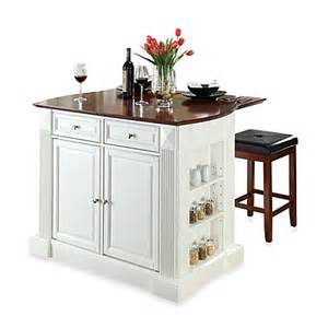 white kitchen island with breakfast bar buy crosley drop leaf breakfast bar top kitchen island in