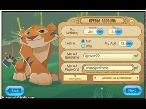 animaljam usernames and passwords 2016 palmtreepaperiecom username and password for an animal jam account youtube