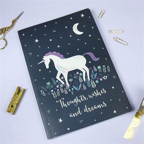Unicorn A5 Notebook starlight unicorn a5 notebook by