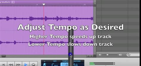 Garageband Change Pitch How To Change The Tempo In Garageband Speed Up Or