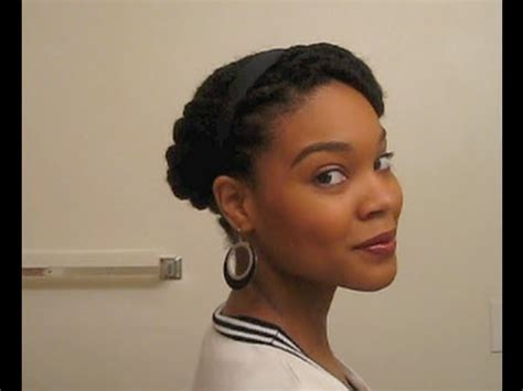 tuck in hairstyles twisted tuck n pin style for natural hair youtube