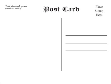 free templates for postcards postcard templates