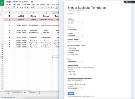 Spreadsheet Crm by Vincent S Reviews The 16 Best Free Crm Apps