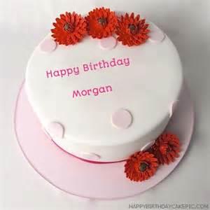 happy birthday cake for morgan