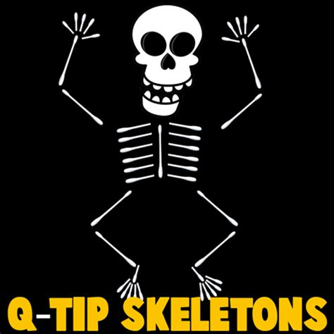 how to make q tip skeletons kids crafts activities