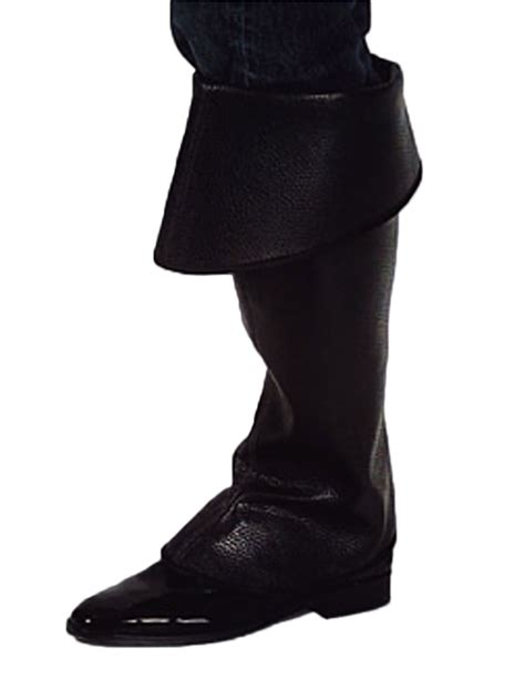 premium pirate black boot covers 202308 fancy dress