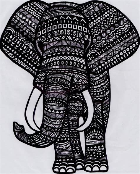 hipster elephant coloring page tribal giraffe pink google search tribal hipster boho