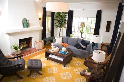 Yellow Rugs For Living Room big yellow area rug living room with grey sofas and a fireplace and adorned with a square