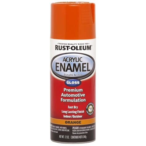 Shop Rust Oleum Automotive Orange Enamel Spray Paint
