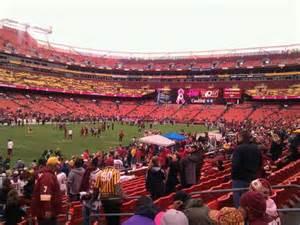 fedex field section 107 row 16 seat 10 washington