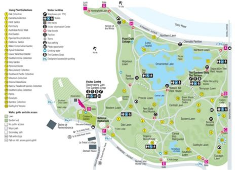 Map Of Melbourne Botanical Gardens Royal Botanic Gardens Melbourne Reviews Tours Hotels Nearby