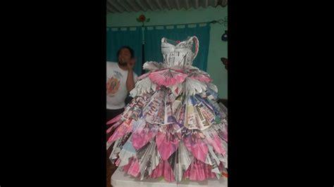 vestido con material reciclado vestido de material reciclado youtube