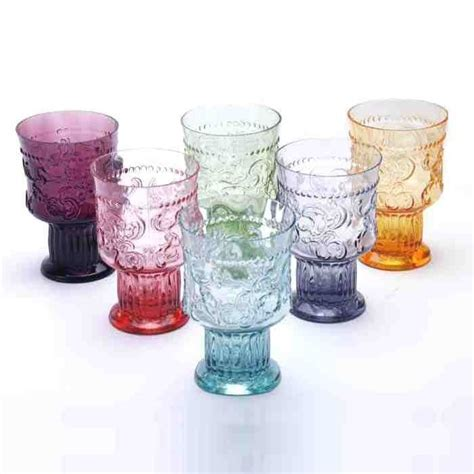 Handmade Glassware Uk - 6 handmade coloured portuguese glasses a colorful