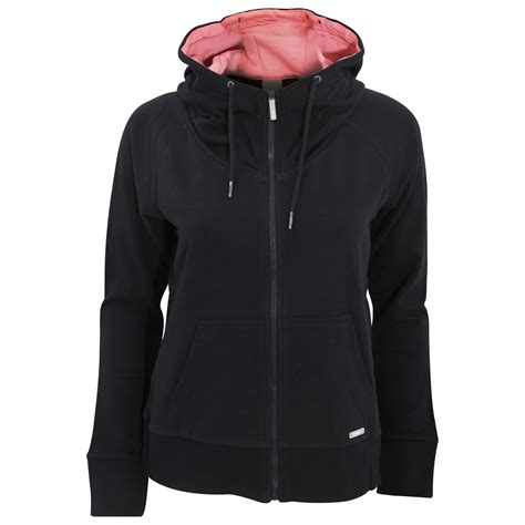 womens bench hoodies bench womens ladies effortless zip up hoodie jacket ebay