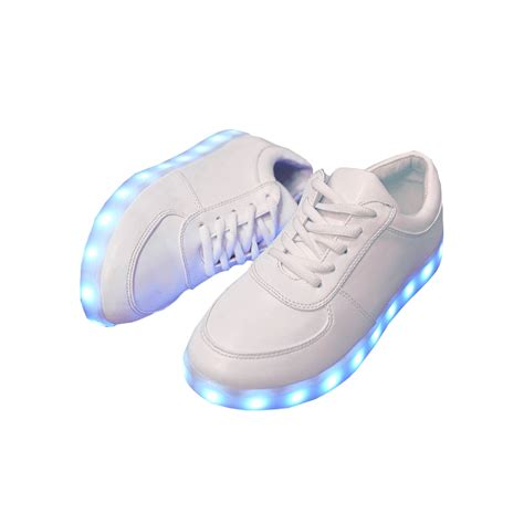 shoes with light unisex light me up shoes white led rechargeable
