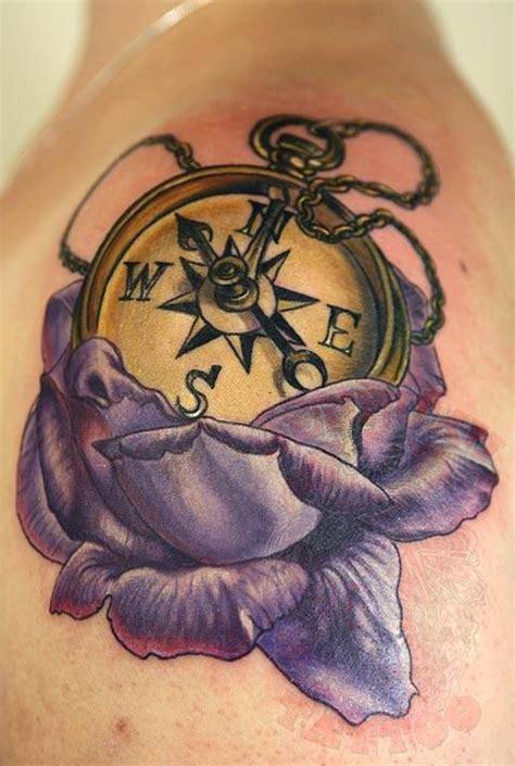 compass tattoo saint john johnythief pocketwatch rose purple rose gold watch compass