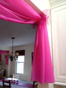 Tulle Ceiling Draping Pretty In Plastic Prettyeasyliving Com