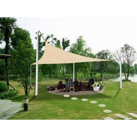 vele ombreggianti da giardino vele ombreggianti triangolari da giardino in poliestere beige