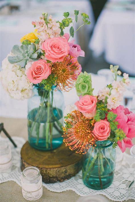 blue  rustic blue mason jars wedding ideas