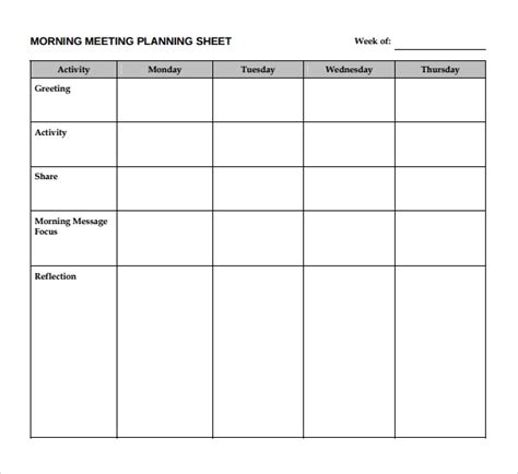 Sle Meeting Planning Template 9 Free Documents Download In Pdf Word Free Meeting Planning Templates