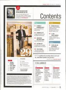 25 best magazine contents ideas on table of