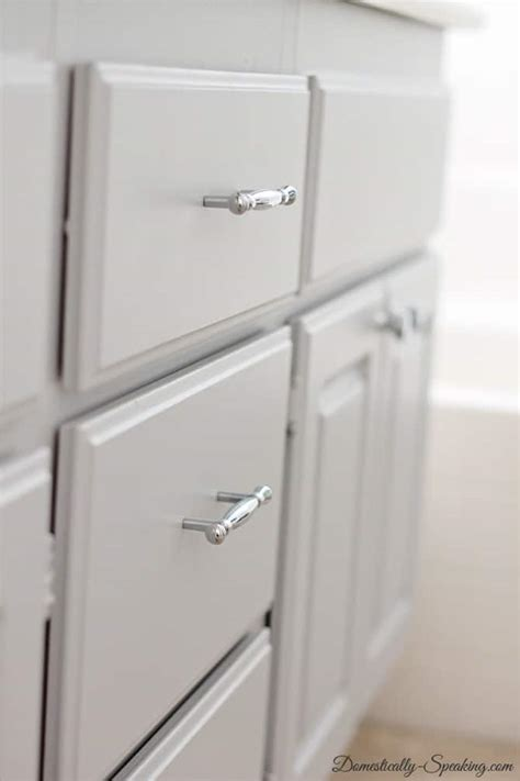how to install bathroom cabinet installing cabinet hardware the easy way domestically