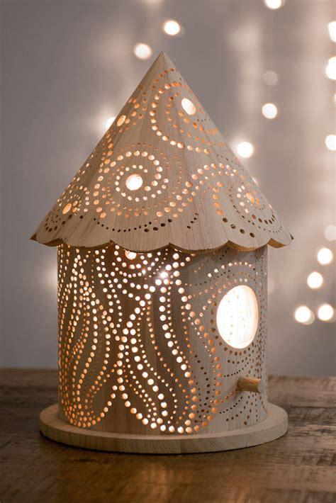 Wood Carved Children's Lamps : laser cut lamp