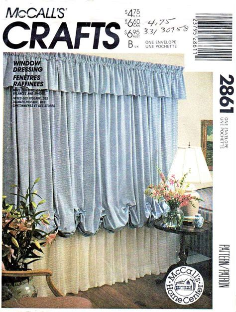 drapery sewing patterns mccall s sewing pattern 2861 window dressing valance