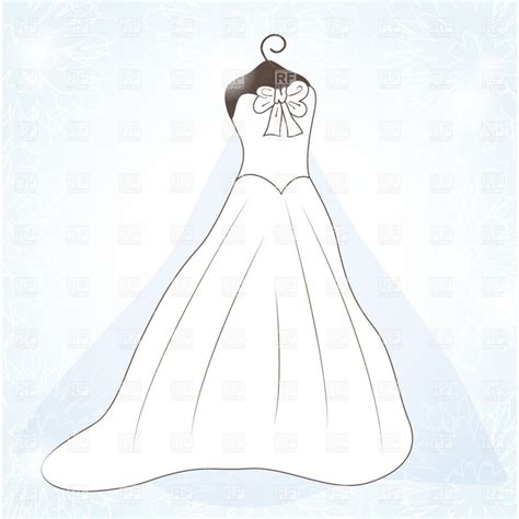 Wedding Dress Outline by Best Wedding Dress Outline 10131 Clipartion