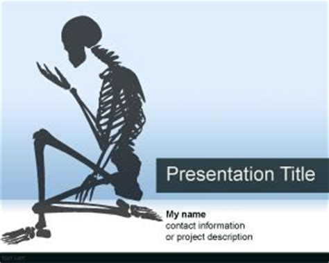 powerpoint templates free bones skeletal system powerpoint template