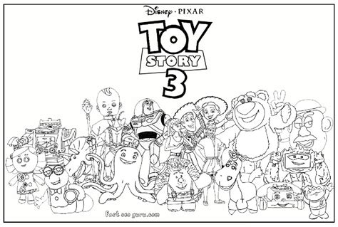 toy story 3 characters kids coloring pages printable