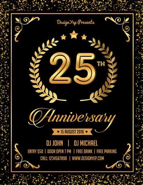 Download The Best Free Anniversary Flyer Psd Flyer Templates Anniversary Template