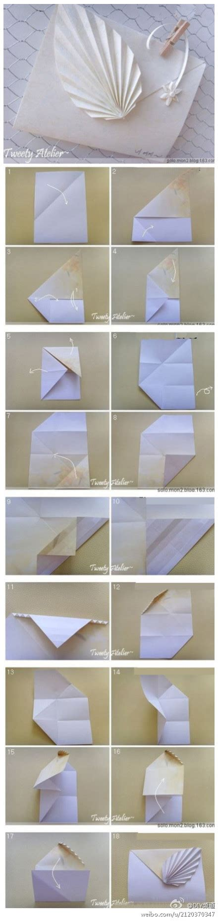 Origami Leaf Envelope - crafts lightcameramonkey page 2