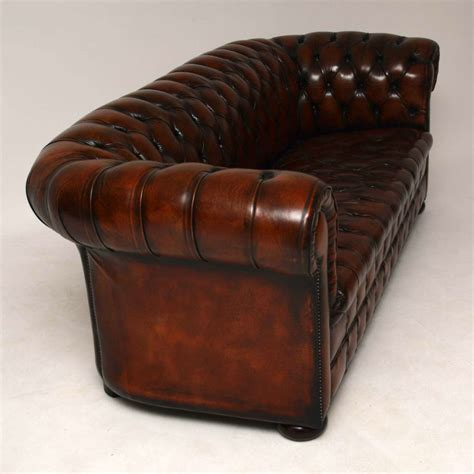 reclaimed leather sofa antique leather chesterfield sofa marylebone antiques