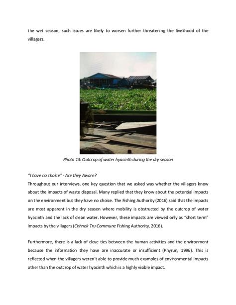 Water Hyacinth Research Paper by Waste On Water Preliminary Research Paper