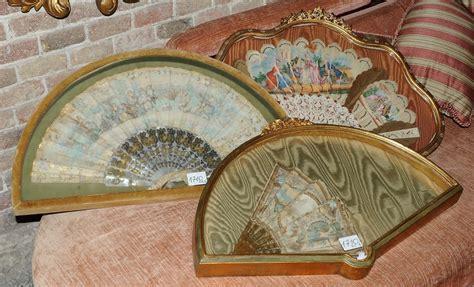 cornici per ventagli tre ventagli in cornice antiquariato e dipinti antichi