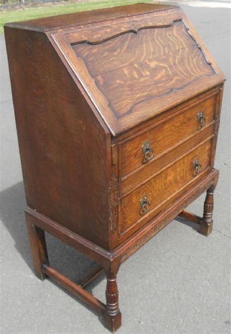 jacobean style oak writing bureau 356034 sellingantiques co uk