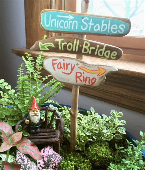 Etsy Transaction Fairy Garden Sign Fairy Garden Garden Sign Ideas