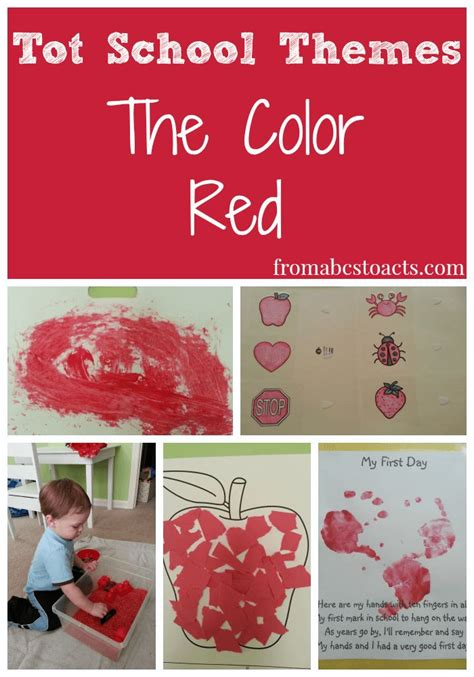 colour themes for preschoolers tot school themes the color red fine motor sensory