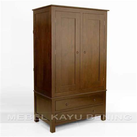 Lemari Kayu lemari pakaian 2 pintu kayu jati model minimalis capuccino