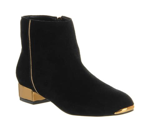 womens ted baker ojip ankle boot black suede boots ebay