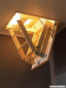 compact wooden folding attic stairs generated by visuallightbox com