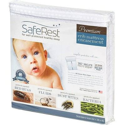 Crib Mattress Encasement Saferest Premium Bed Bug Proof Crib Mattress Encasement Up To 6 Quot