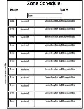 special education schedule template lesson plan forms editable with schedule templates for